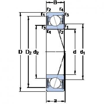 65 mm x 90 mm x 13 mm  SKF S71913 CE/HCP4A angular contact ball bearings