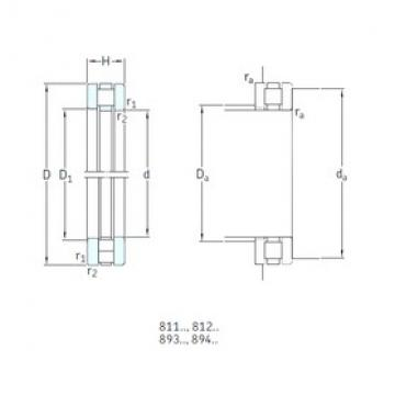 160 mm x 200 mm x 9,5 mm  SKF 81132TN thrust roller bearings