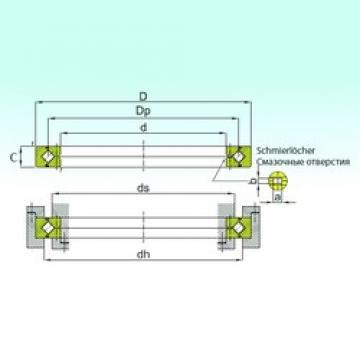 250 mm x 310 mm x 25 mm  ISB RB 25025 thrust roller bearings