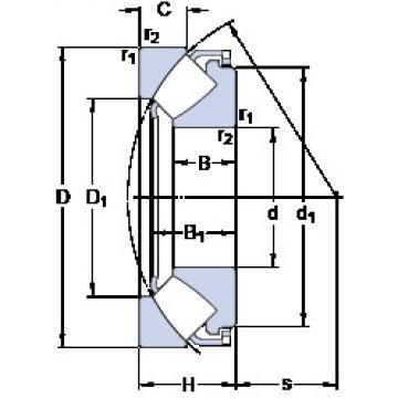 340 mm x 620 mm x 112 mm  SKF 29468 E thrust roller bearings