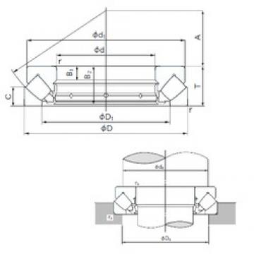 190 mm x 380 mm x 41 mm  NACHI 29438E thrust roller bearings