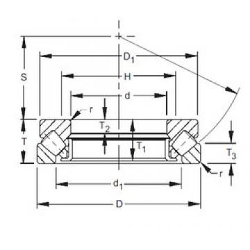300 mm x 480 mm x 37 mm  Timken 29360 thrust roller bearings