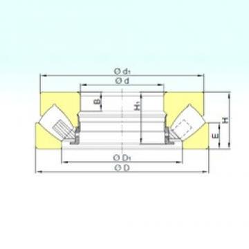 630 mm x 950 mm x 68 mm  ISB 293/630 M thrust roller bearings