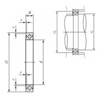 90 mm x 106 mm x 8 mm  IKO CRBS 908 V UU thrust roller bearings