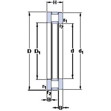 850 mm x 1000 mm x 36 mm  SKF 811/850 M thrust roller bearings
