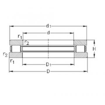 NKE 81113-TVPB thrust roller bearings