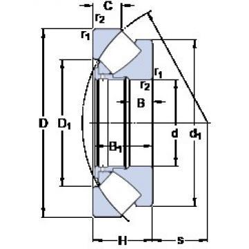 1000 mm x 1670 mm x 154.9 mm  SKF 294/1000 EF thrust roller bearings