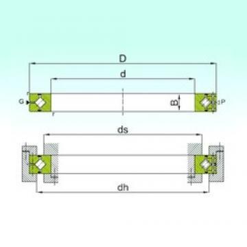 80 mm x 120 mm x 16 mm  ISB CRBH 8016 A thrust roller bearings
