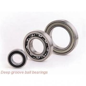 1,984 mm x 6,35 mm x 3,571 mm  KOYO WOB69 ZZX deep groove ball bearings