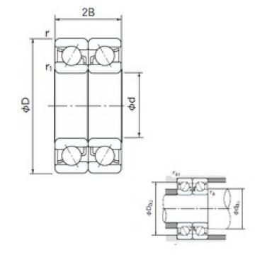 110 mm x 170 mm x 28 mm  NACHI 7022CDB angular contact ball bearings