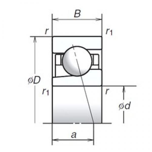 12 mm x 28 mm x 8 mm  NSK 12BGR10S angular contact ball bearings #1 image